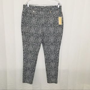 Michael Kors Leopard Print Skinny Pants